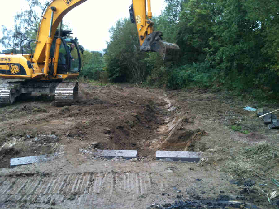 Reedbed refurbishment for a commercial timber yard