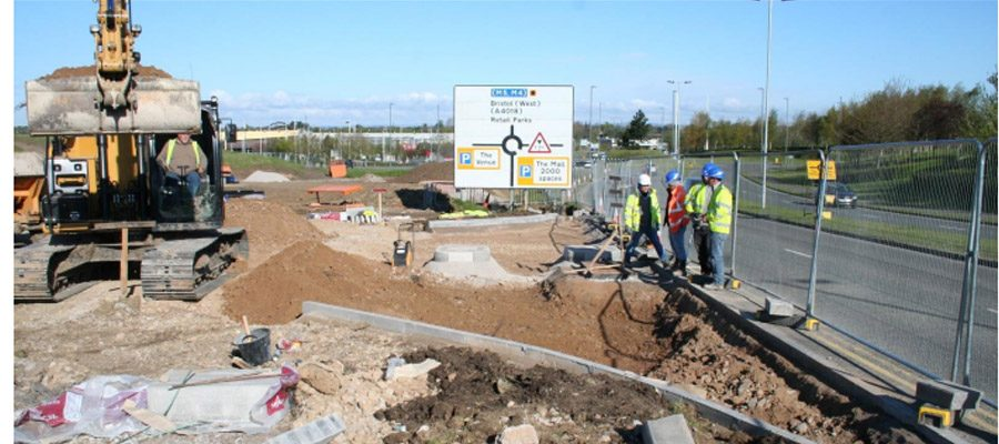 Site preparation works at Cribbs Causeway retail park, Bristol