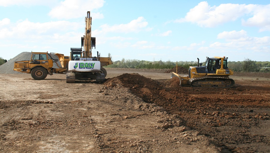 Groundworks on a water treatment scheme