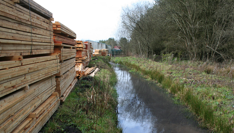 Reedbed refurbishment at BSW Timber