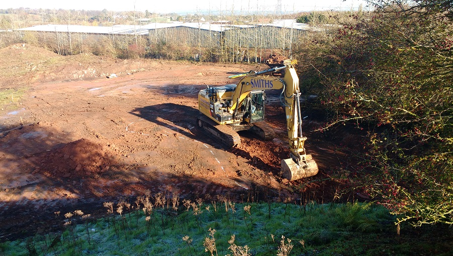 Excavating a newt pond at Stoke Prior