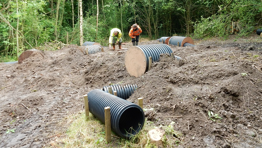 Construction of artificial badger sett
