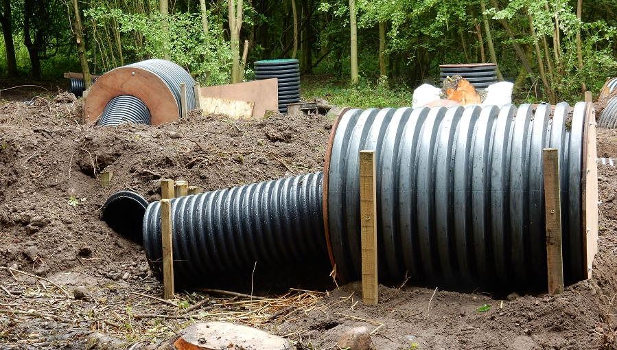 Pipes for artificial badger setts