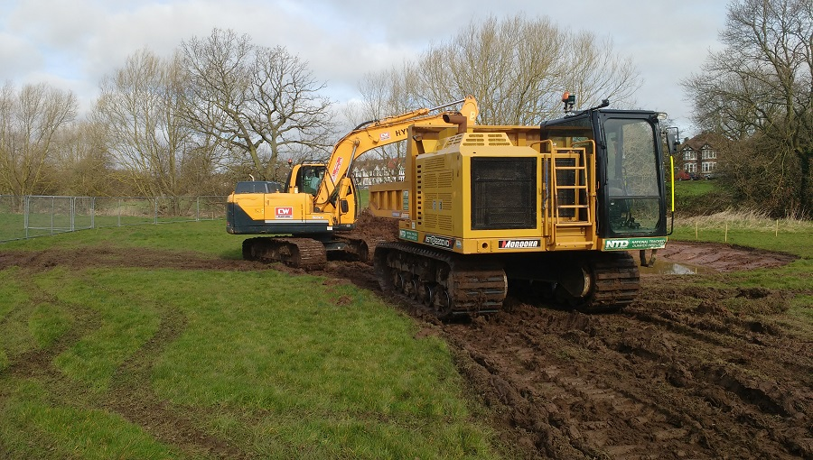 Excavation works on Lake View Country Park