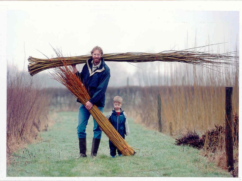 John and Sam in the willow coppice
